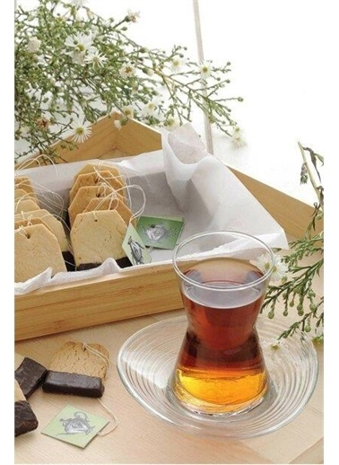 Lav Derin Çay Seti Takımı- Çay Bardağı - Çay Tabağı Seti 24 Prç.12 Kişilik Renkli